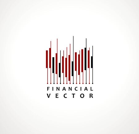 Financial Stock Exchange Market Charts Logo design abstract vector template. Finance company Logotype concept.
