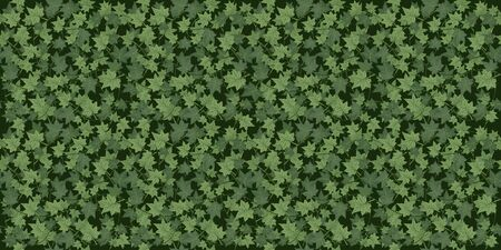 Realistic seamless wallpaper, background. Green Ivy braiding wall. Vector