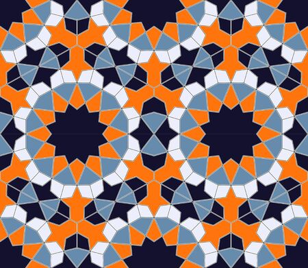 Islamic colorful geometric seamless pattern in a fashionable color palette vector.