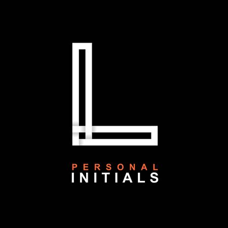 Capital letter L. Created from interwoven white stripes with shadows on a black background. Template for creating logo, emblems, monograms, personal initials, corporate identity. Vector Illusztráció