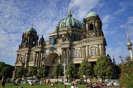 Dynamic view of the famous Berlin Cathedral