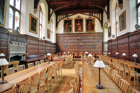 Medieval Hall at Magdalen College - Oxford, England - Aug 2017 Editorial