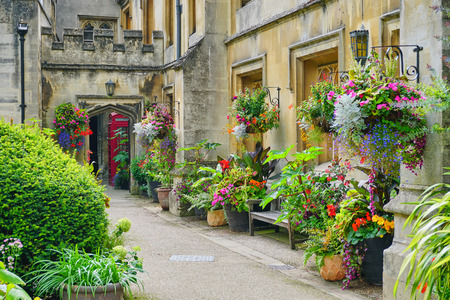 Old Walkway, Gardens and Buildings of Magdalen College, Oxford, England - Aug 2017 Editorial
