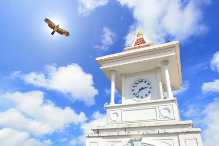 clock tower: Afternoon light clock tower in Phuket Stock Photo