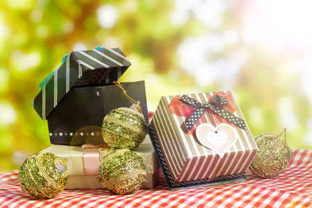 Gift box for new year and Christmas photo