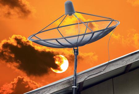 dish aerial photo