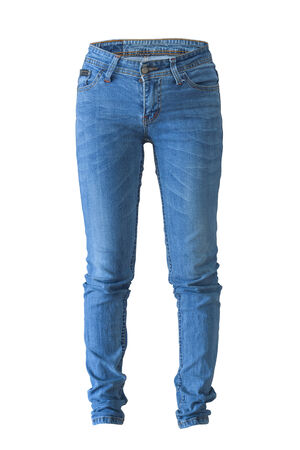 womens fashion: jeans Stock Photo