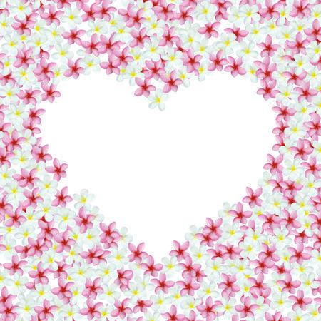 Heart-shaped flowers frame photo