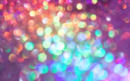 multi colors: bokeh lights background with multi colors with motion blur. Stock Photo