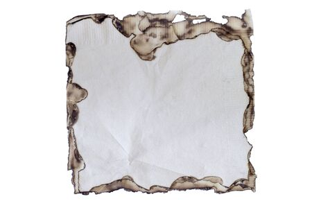 burnt paper: burnt paper isolated  on a white background