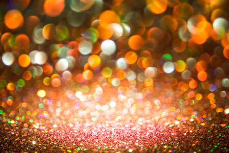 multi colors: bokeh lights background with multi colors  motion blur. Stock Photo