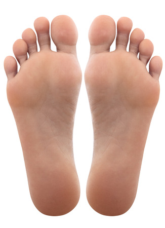 Close up of female feet Stock Photo