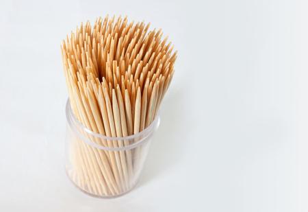 toothpick: Toothpick isolated on white Stock Photo
