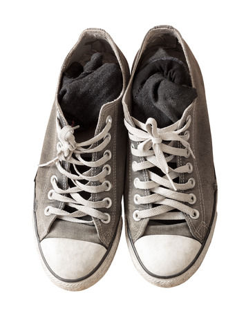 old shoes: old shoes isolated on background