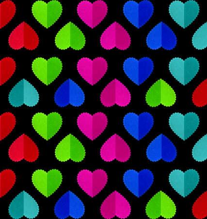 corazones azules: Modelo del corazón aislado en el fondo negro Foto de archivo