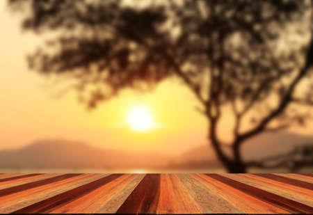 on wood floor: sunset and wood floor