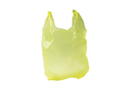 Yellow plastic Bag Isolated On White Background