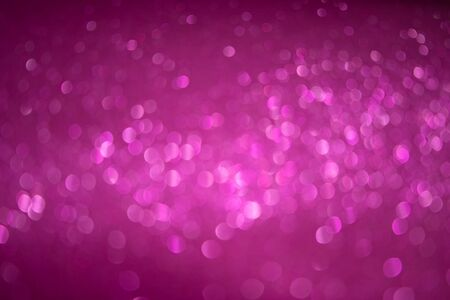 Bright white bokeh sparkle glitter abstract patterns on pink background