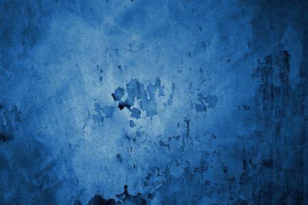 Beautiful Abstract Grunge Dark Blue   Wall Background. Stock Photo