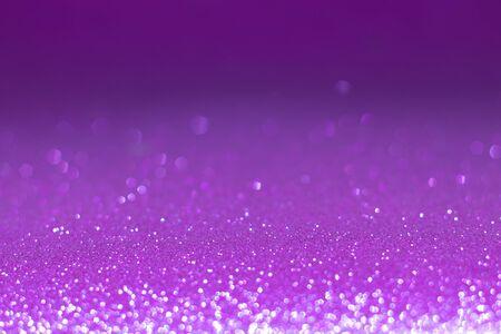 Abstract purple bokeh defocus glitter blur background. Stock Photo