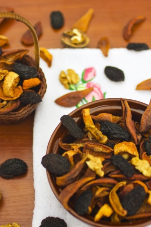 Dried fruits and nuts photo