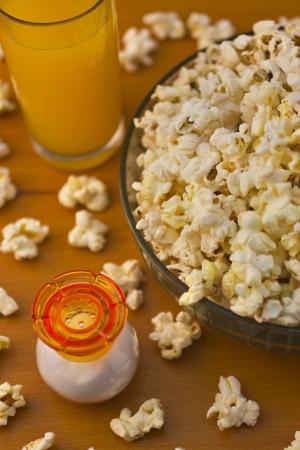 Popcorn with juice