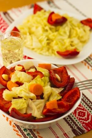 Salad with aperitif