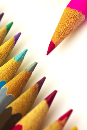 Colorful pencils isolated photo