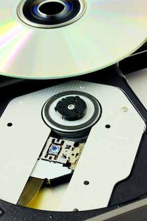 cd rw: DVD recorder isolated Stock Photo