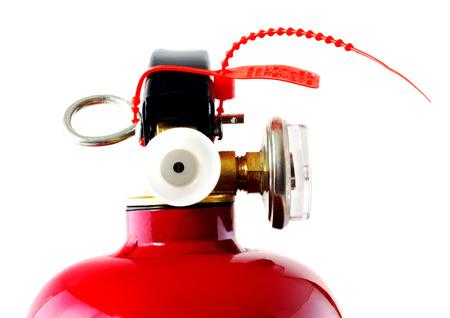 suppression: Fire extinguisher Stock Photo