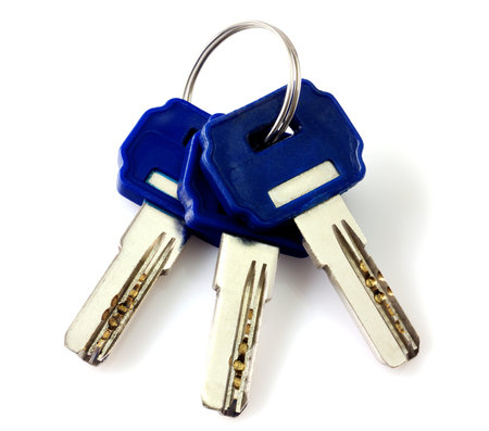 Bunch of keys isolated photo