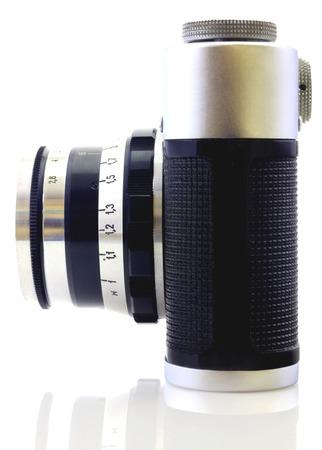 Retro camera isolated on white photo