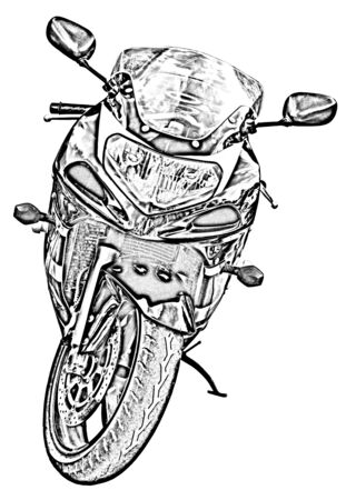 motorized sport: Motorcycle drawing