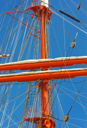 Masts of sailing ship