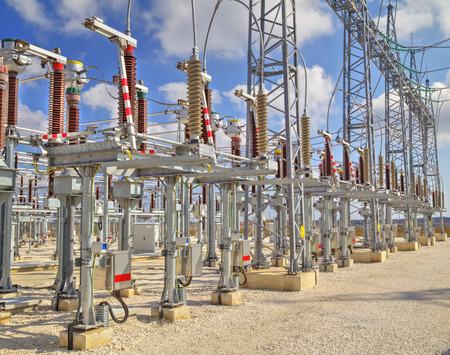 isolator high voltage: High voltage switchyard