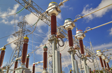 High voltage switchyard