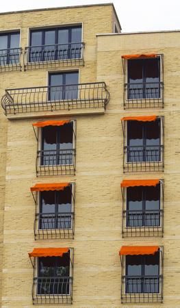 Facade of stylish modern building photo