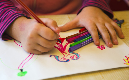 Childrens drawing Standard-Bild