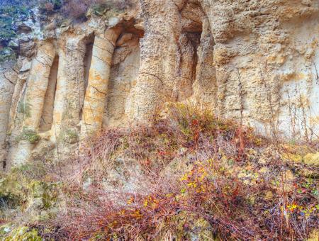 lithosphere: Rock phenomenon close up Stock Photo