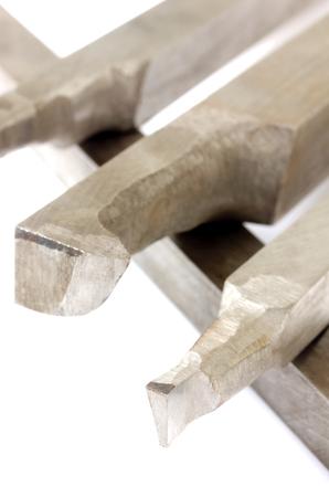 Lathe tools isolated on white