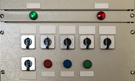control panel lights: Electrical control panel
