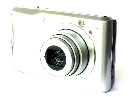 megapixel: Digital camera isolated on white