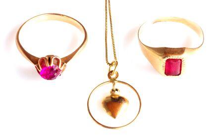 Jewelry isolated on white Stock Photo