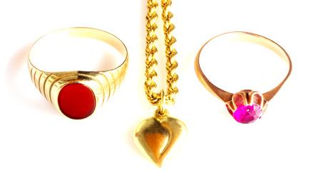 Jewelry isolated on white photo