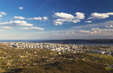 Cityscape over Varna city, Bulgaria photo