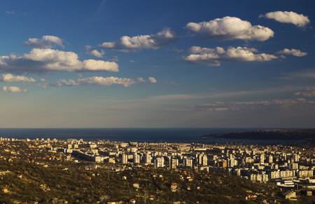Cityscape over Varna city, Bulgaria Stock Photo
