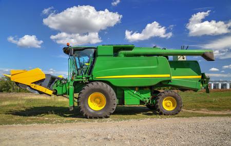 combines: Harvester closeup