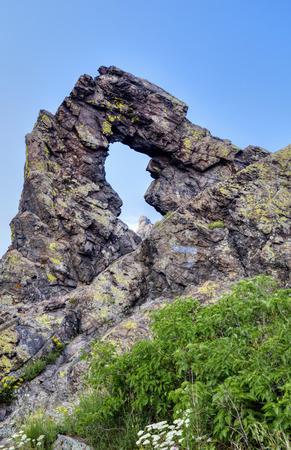 phenomenon: Stone ring phenomenon formation in the mountain