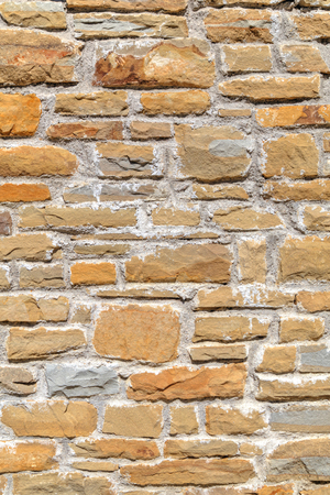 stone wall: Colorful stone wall background Stock Photo
