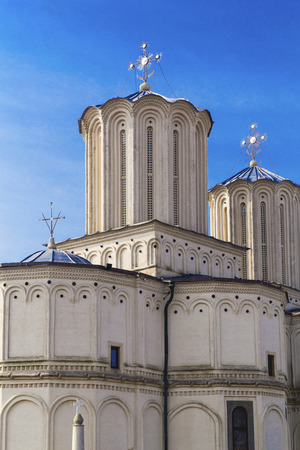patriarchal: Romanian Patriarchal Cathedral on Dealul Mitropoliei in Bucharest, Romania.